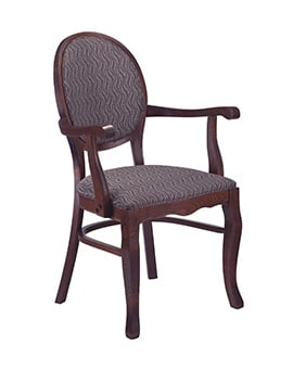 Deluxe Oval Medallion Back Arm Chair Model 475a