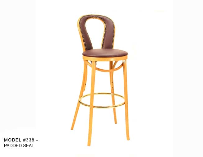 Traditional Upholstered Bentwood Hair Pin Stool Model