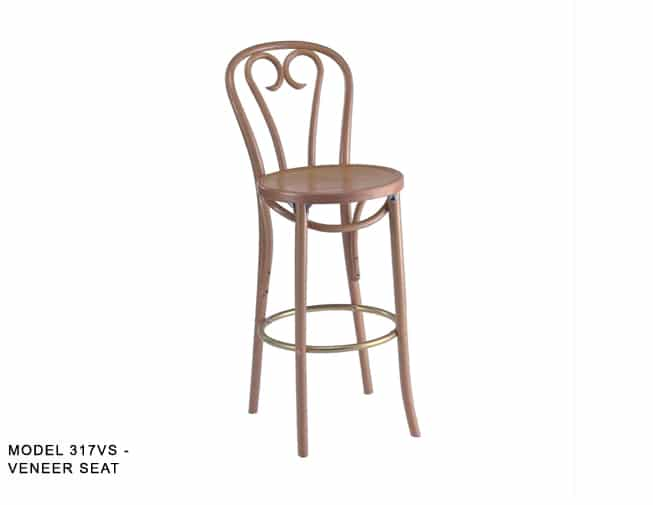 Traditional Bentwood Ice Cream Parlor Stool Model 317