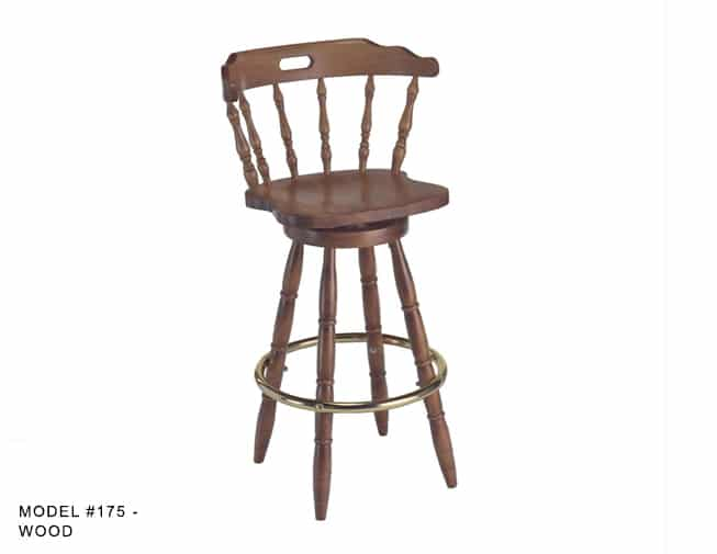 Colonial Mates Spindle Back Stool Model 175 Restaurant