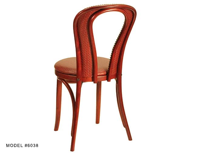 Traditional Upholstered Bentwood Hair Pin Chair Model