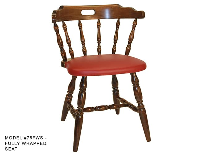 Colonial Mates Spindle Back Chair Model 75 Restaurant