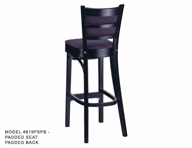 Heavy Duty Ladder Back Stool Model 619 Restaurant