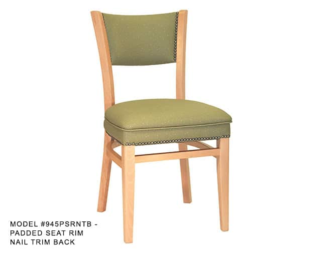 Heavy Duty Over Upholstered Narrow Profile Back Chair Model 945 Restaurant Chairs By M Deitz And Sons Inc