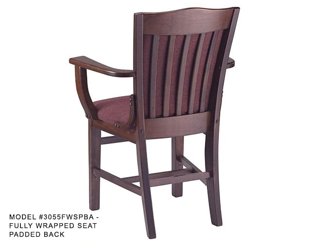 Heavy Duty Solid Wood School House Arm Chair Model 3055a