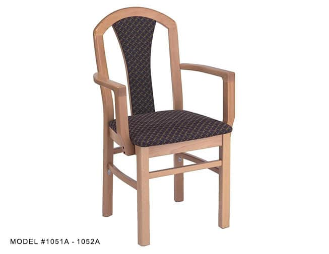 Deluxe High Fan Back Arm Chair Model 1050a Restaurant