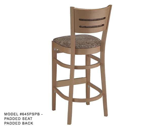 Heavy Duty Horizontal Slat Back Stool Model 645