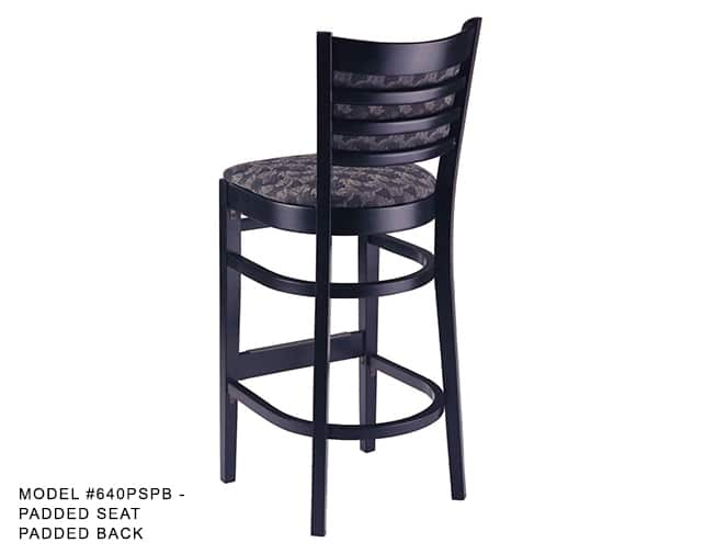 Heavy Duty Ladder Back Stool Model 640 Restaurant
