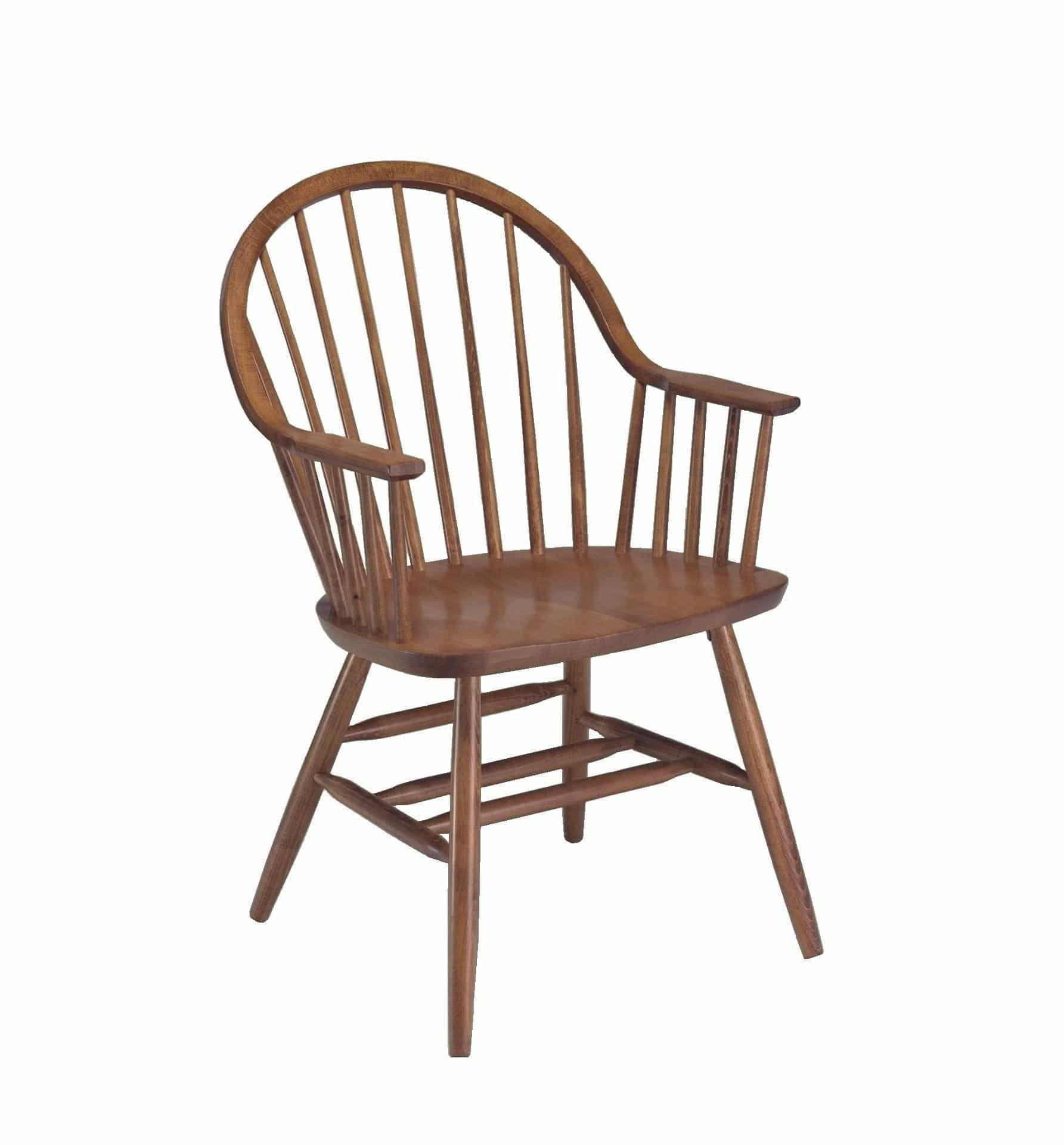 Colonial Windsor Arm Chair With Spindle Back Model 25