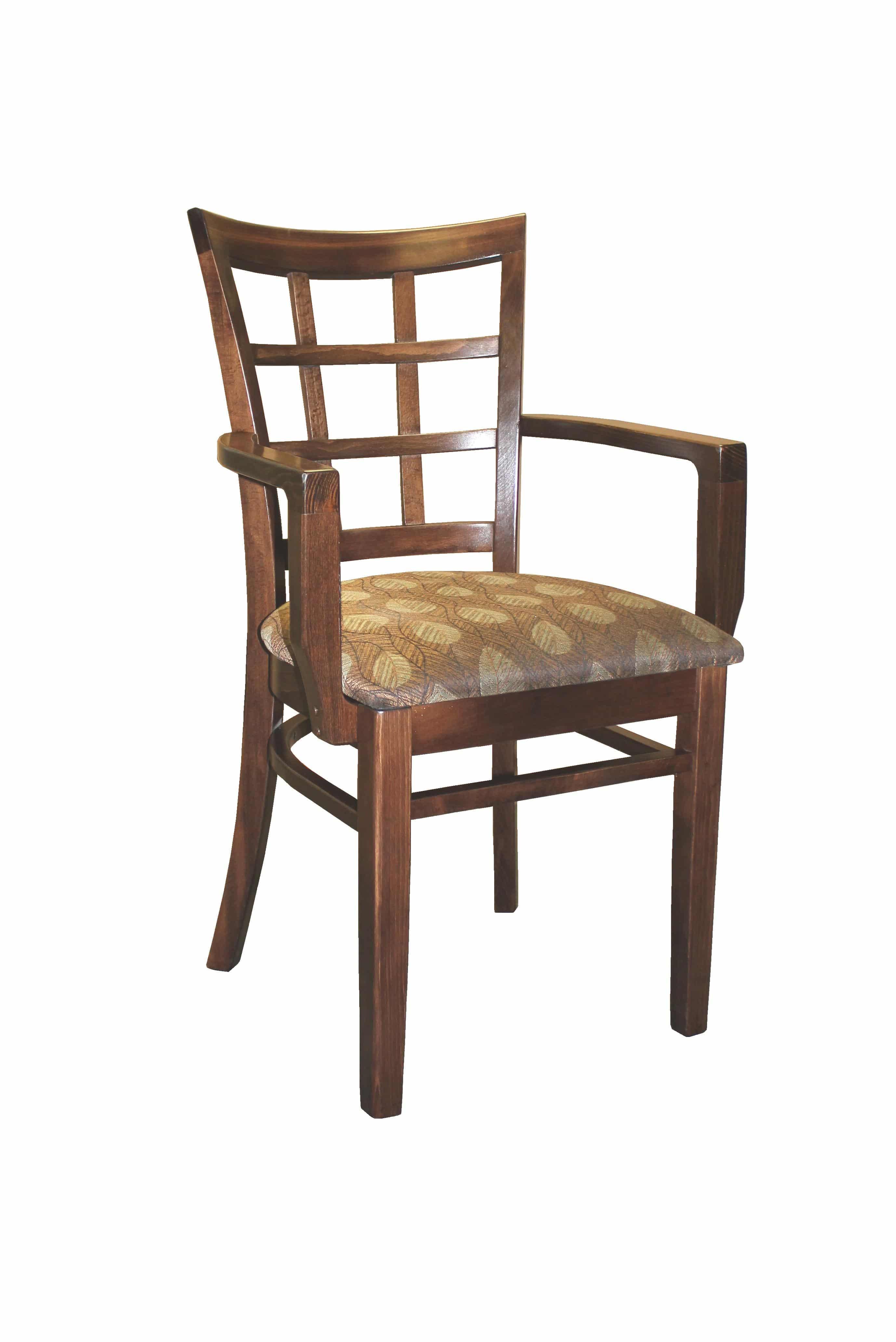 Heavy Duty Lattice Back Window Pane Arm Chair – Model 360A ...