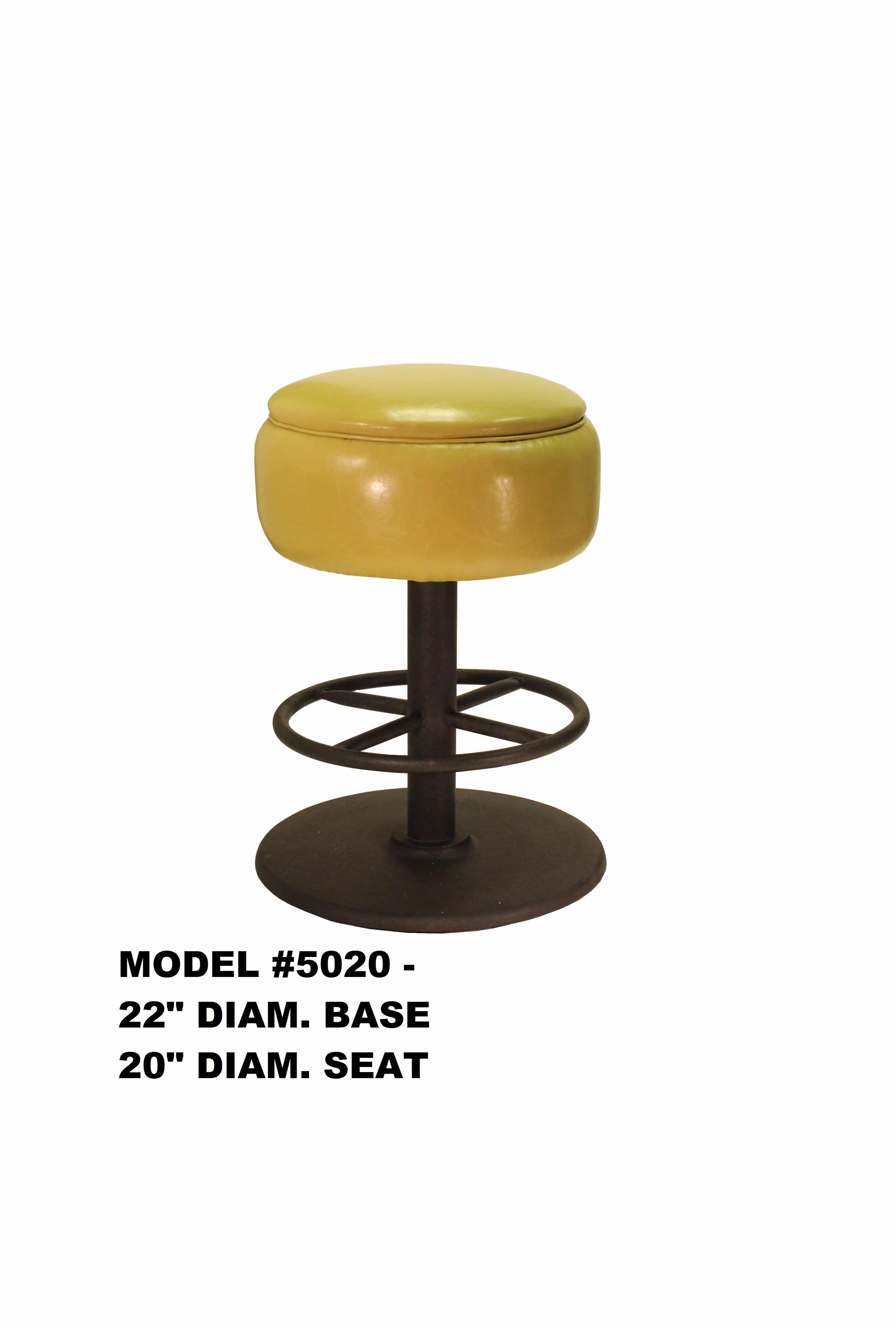 Picture of: Heavy Duty Round Seat Swivel Backless Metal Bar Stool Model 5020 Restaurant Chairs By M Deitz And Sons Inc
