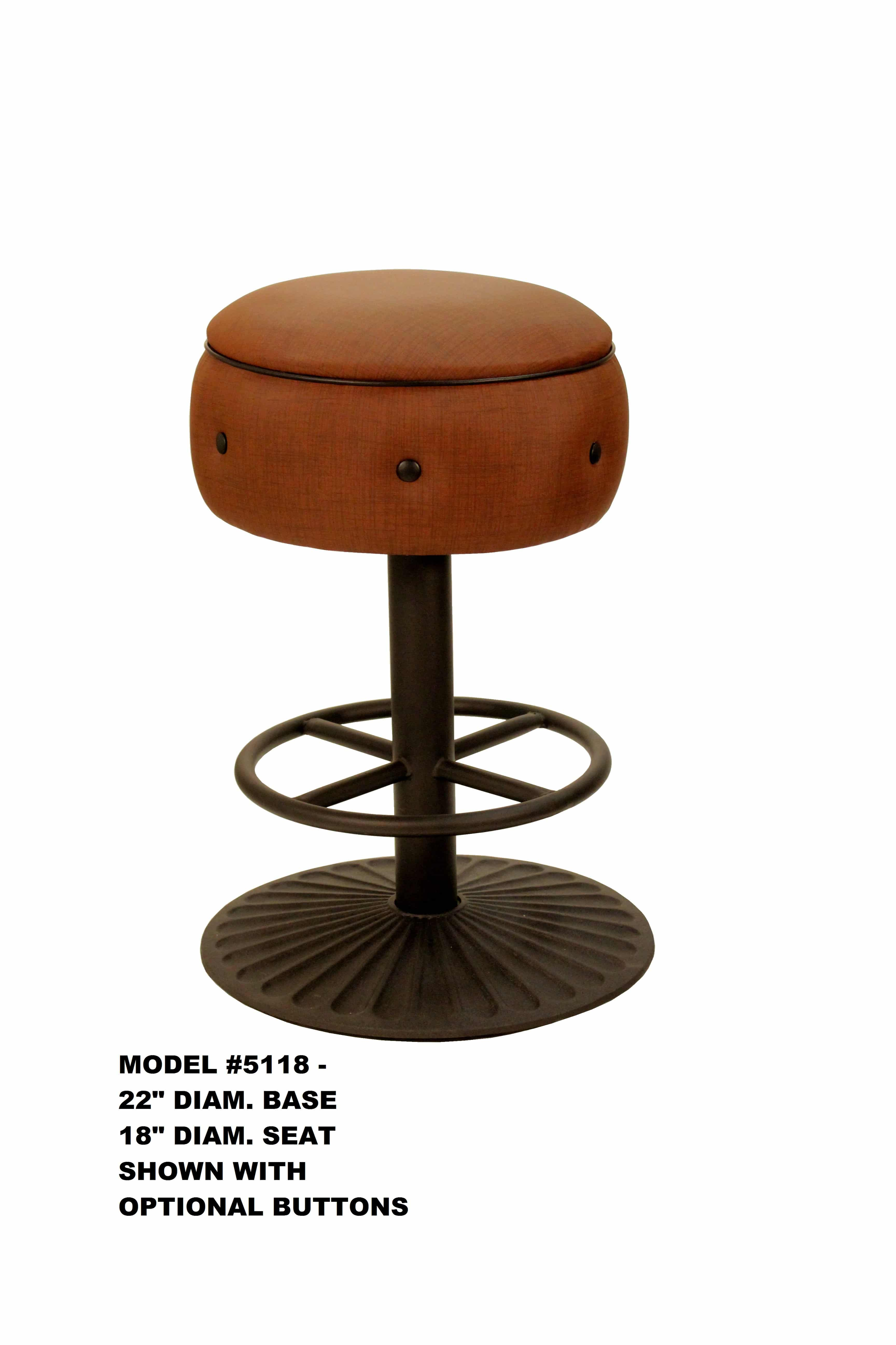 Outstanding Heavy Duty Round Seat Swivel Backless Metal Bar Stool Pabps2019 Chair Design Images Pabps2019Com